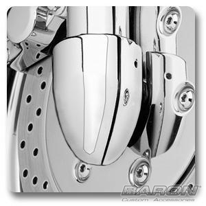 AXLE NUT/FORK COVERS - CHROME