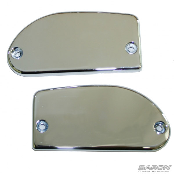 MASTER CYLINDER COVERS -  SMOOTH, CHROME - Road/Stratoliner and Raider