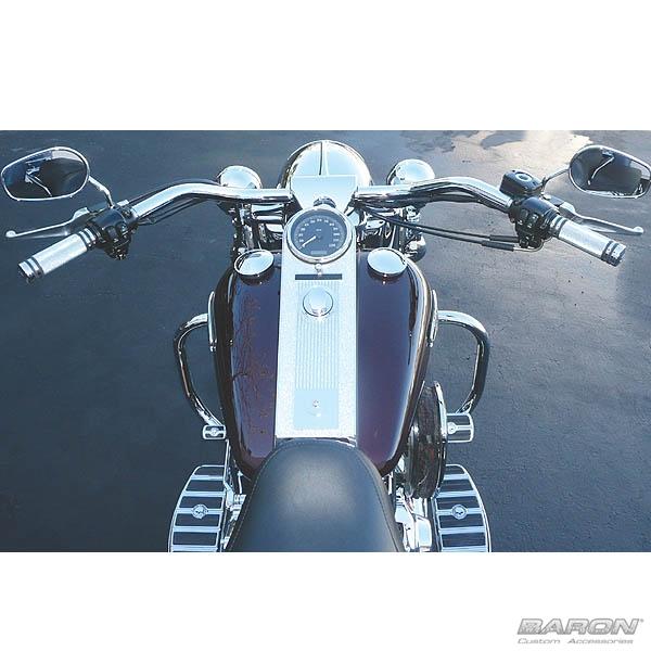 BIG JOHNSON BAR, CHROME FINISH<br>For Harley® Touring Models by - LA ...