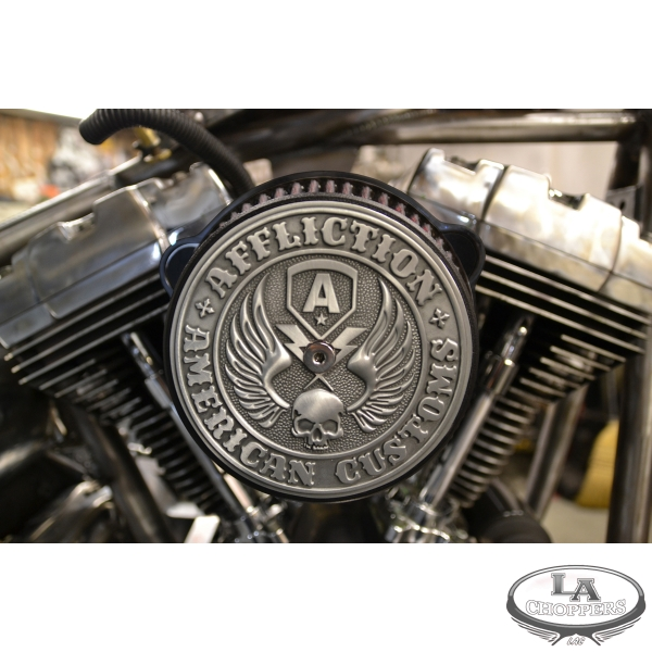 Affliction Air Cleaner<br>H-D Big Twin, Dyna, Softail<br>Black